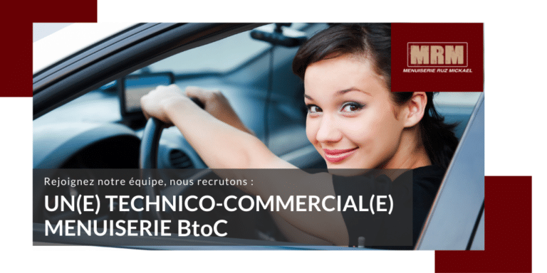 #Recrutement : Technico-commercial Menuiserie